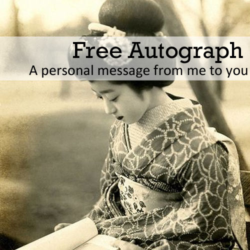 Free autograph • a personal message from me to you • gretelpark.com